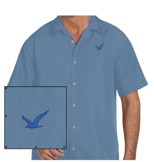 Mens Barbados Textured Camp Shirt