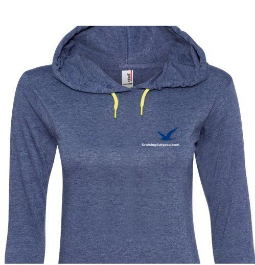 Women's lightweight long sleeve hooded T-shirt