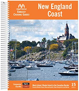 New England Coast MAPTECH® Embassy Cruising Guide 15th Edtion Spiral-bound – March 9, 2021